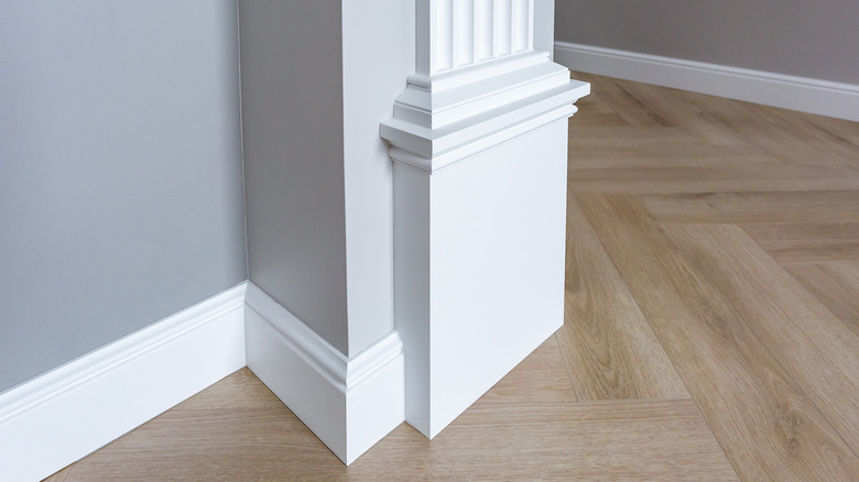 intricate baseboards