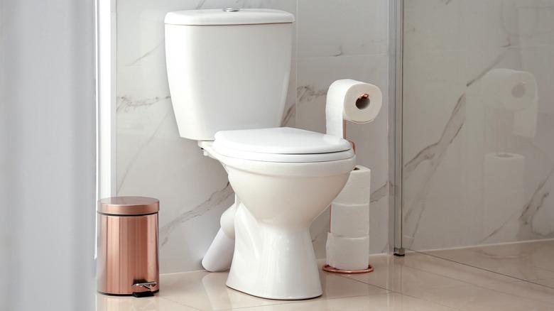toilet in modern bathroom
