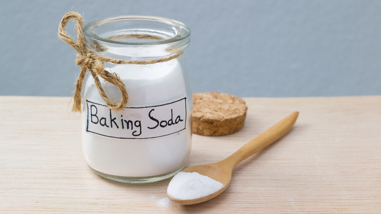Jar of baking soda