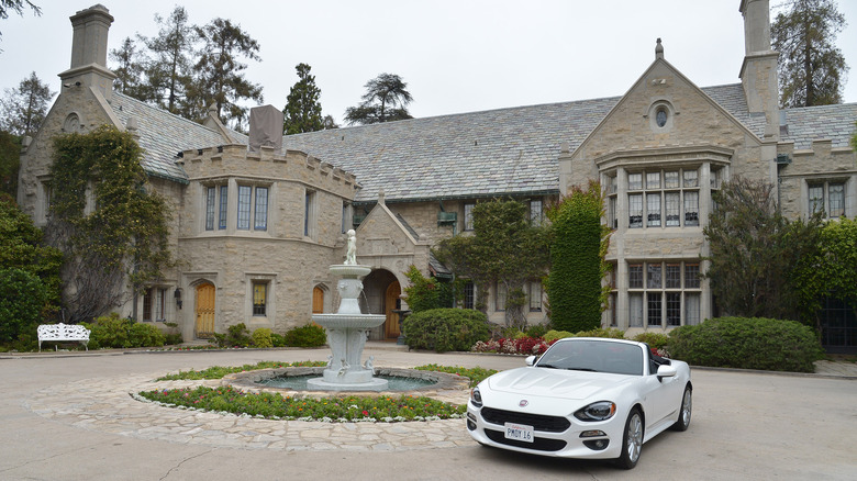 The Playboy mansion and car