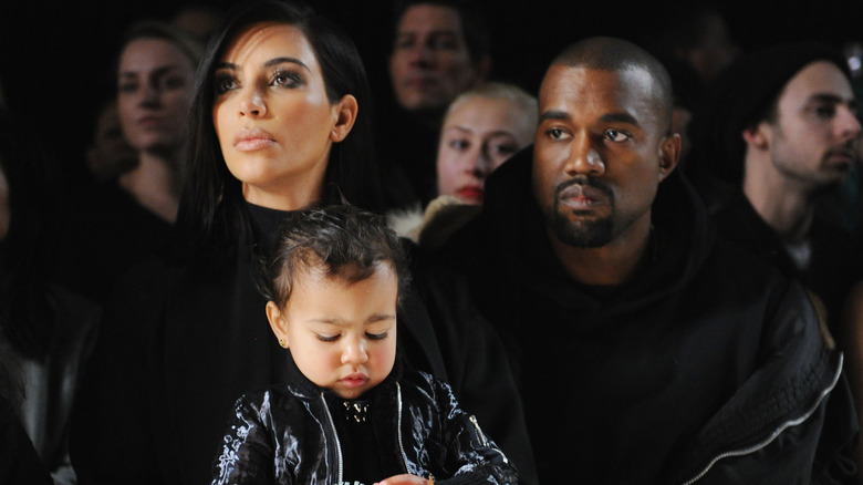 Kim and Kanye with North