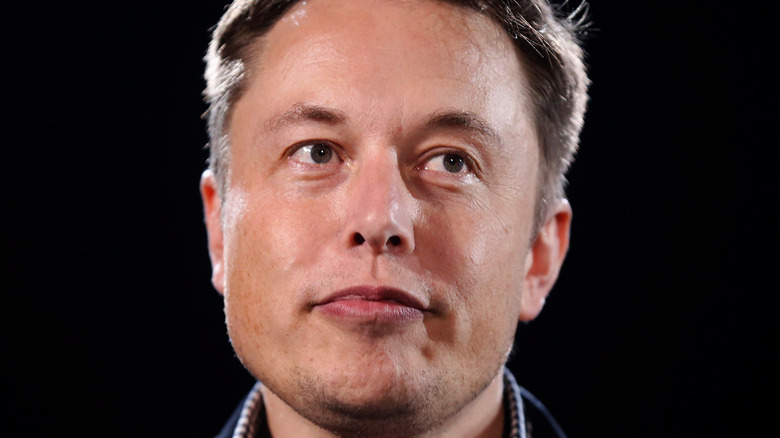 Elon Musk looking off to the side