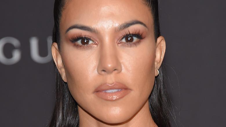 Kourtney Kardashian close-up