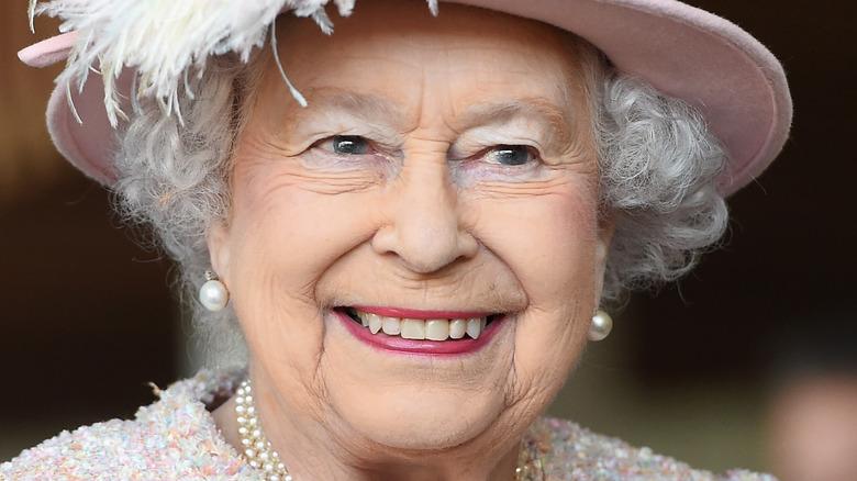 Queen Elizabeth smiling