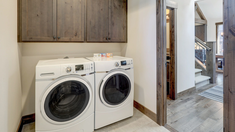 A washer and dryer set
