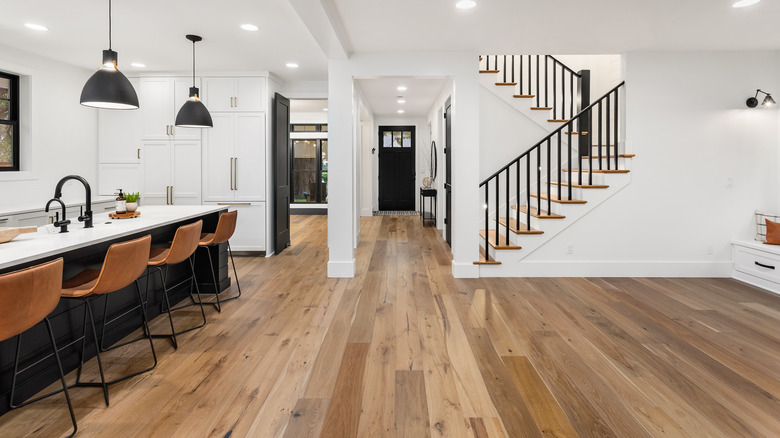 Wood flooring in a home