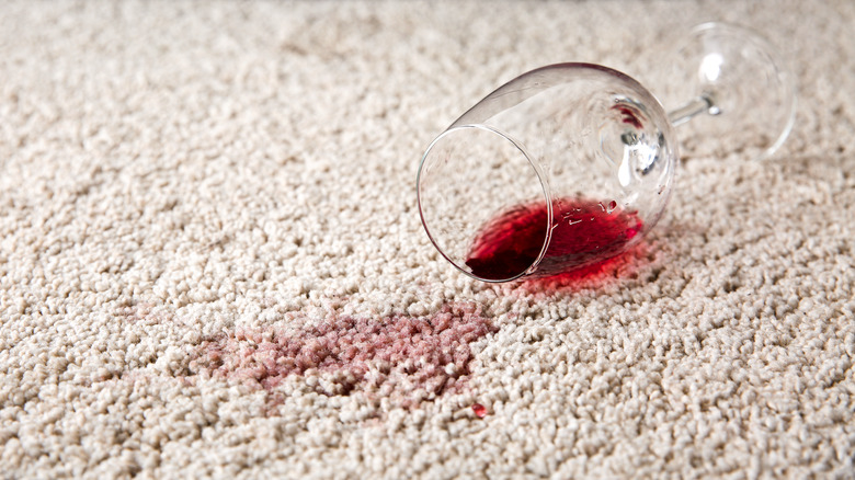 Red wine stain carpet