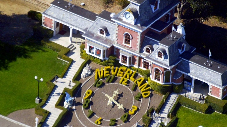 Arial shot of Neverland train station