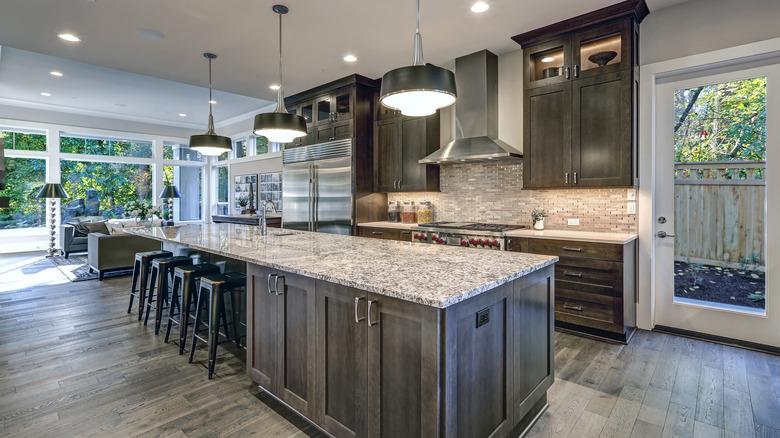 granite countertops in upscale kitchen