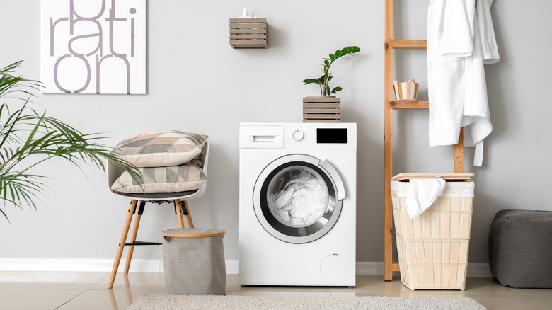 tidy laundry room