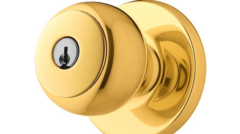 Image of a brass doorknob