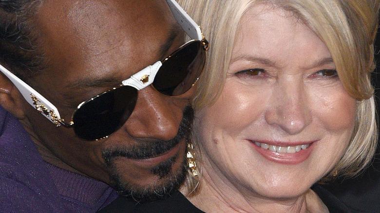 Snoop Dogg and Martha Stewart hugging