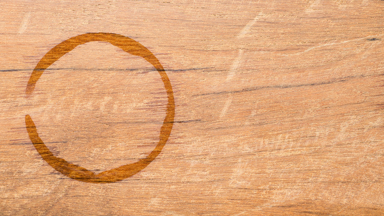 Water ring on wood