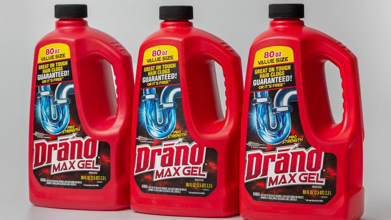Bottles of Drano