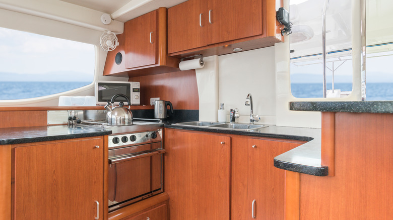 galley kitchen on boat