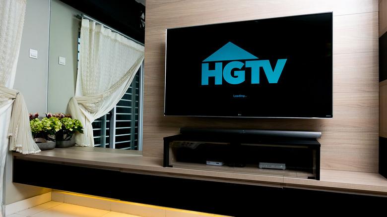 HGTV logo on television