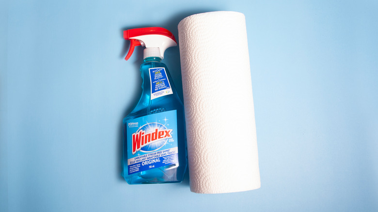 Windex and paper towels