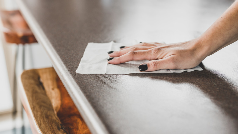 Wiping a counter